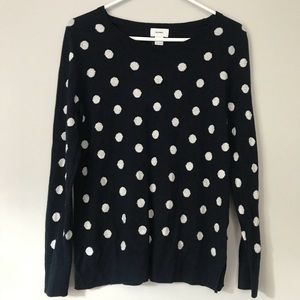 NWOT✨ Old Navy White & Navy Blue Polka Dot Sweater